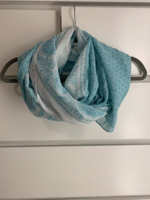 Only Summer Scarf white-turquoise