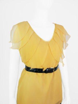Sommerliches Vintage Top mit Volant-Kragen