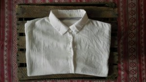 Sommerliches weißes Hemd