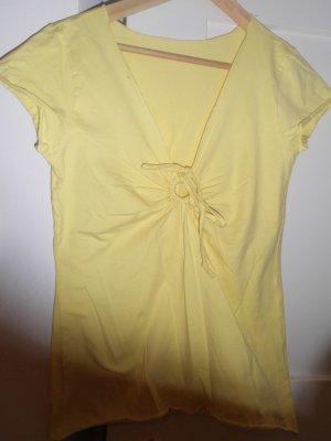 sommerliches, zitronengelbes, ungetrages Shirt in Größe S