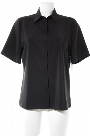 Sommermann Kurzarm-Bluse schwarz Business-Look
