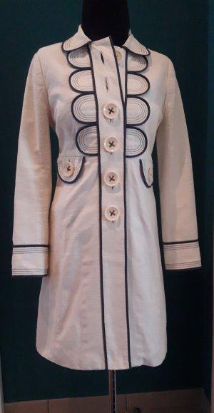 Boden Frock Coat natural white-dark blue cotton