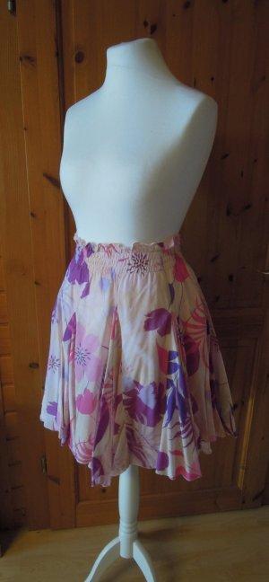 Zara Woman High Waist Skirt multicolored cotton