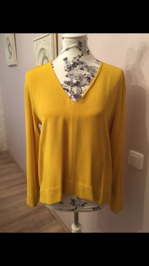 Zara V-Neck Sweater gold orange