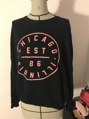 BDG Sweater zwart-roze Katoen