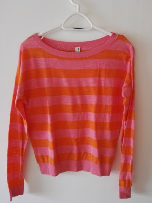 de.corp by Esprit Crewneck Sweater neon orange-neon pink