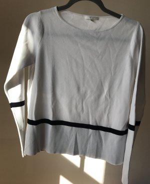 Sommerpullover von Opus weiß / schwarz
