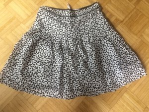 Flared Skirt white-black