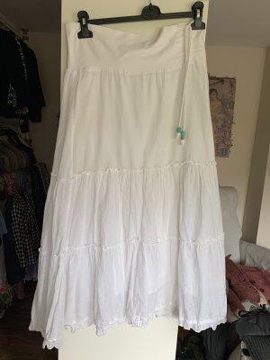 Falda gitana blanco