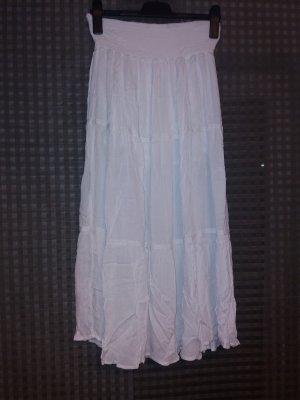 Falda circular blanco