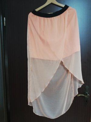 Vero Moda Asymmetry Skirt apricot-salmon