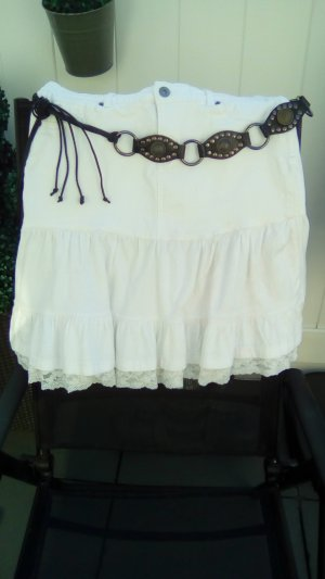 Spijkerrok wit-zwart bruin