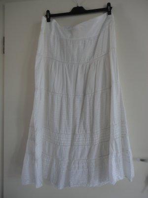 C&A Maxi Skirt natural white-white cotton