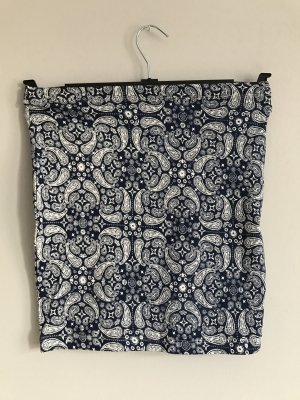 H&M Divided Stretch rok wit-blauw