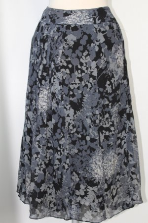 Ann Taylor Flared Skirt silver-colored-black