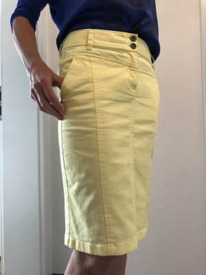 Olsen Falda vaqueras amarillo claro Algodón