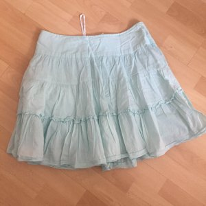 Vero Moda Balloon Skirt light blue-baby blue cotton