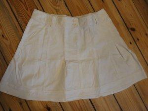 Zero Jupe cargo blanc coton