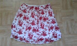Stretch rok wit-rood
