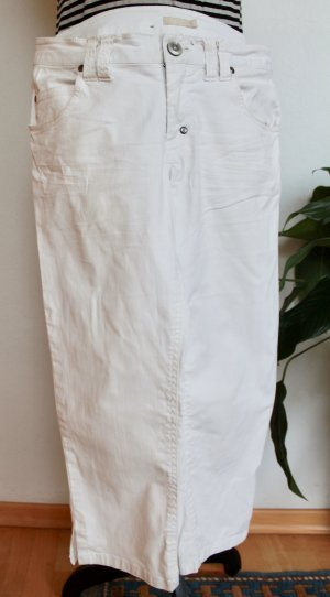 B.young 3/4 Length Trousers white-natural white cotton