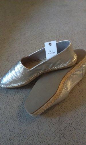 Zara Basic Zapatos formales sin cordones color plata