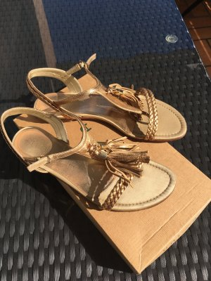 Unisa Strapped Sandals gold-colored leather