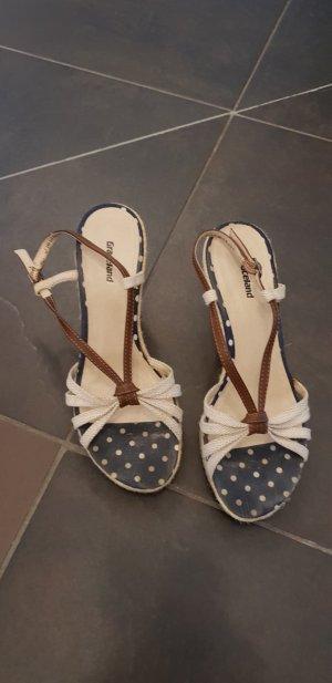 Graceland Wedge Sandals cream-dark blue