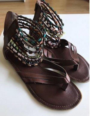 Deichmann Toe-Post sandals brown