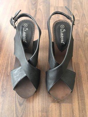 Clog Sandals black-dark brown