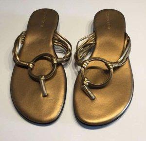 Alessandro Bonciolini Sandalo toe-post bronzo-nero