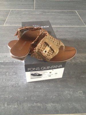 Pons Quintana Sandalo toe-post multicolore Pelle