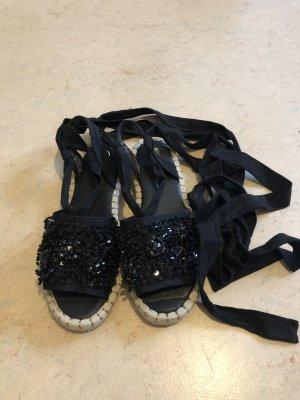 River Island Espadrille Sandals black cotton