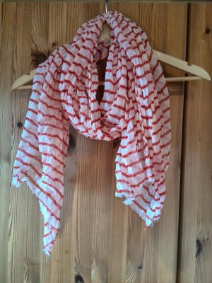 Summer Scarf white-bright red