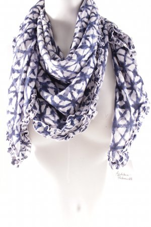 Sommerschal blau-weiß abstraktes Muster Casual-Look