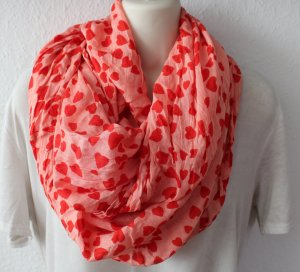 Snood salmon-red