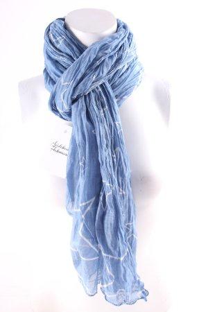 Sommerschal kornblumenblau-weiß Sternenmuster Casual-Look