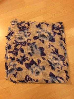 Sommerschal mit blau-violetten Blüten