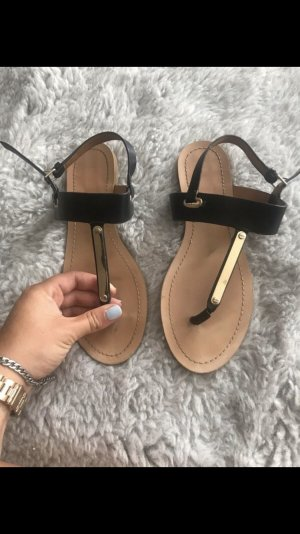 Pull & Bear Strapped High-Heeled Sandals black
