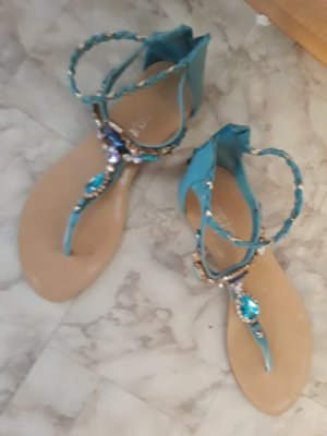 Feida Beach Sandals cream-light blue