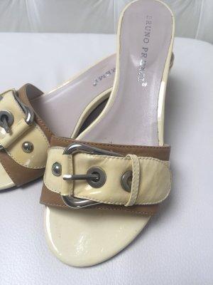 Bruno Premi Heel Pantolettes cream-beige leather