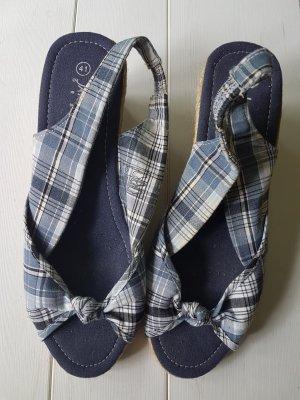 Jane Klain Wedge Sandals blue