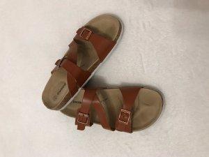 Graceland Comfort Sandals cognac-coloured
