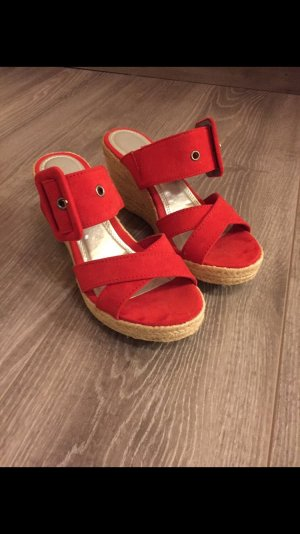 Marco Tozzi Mules red