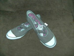 Ballerinas grey cotton