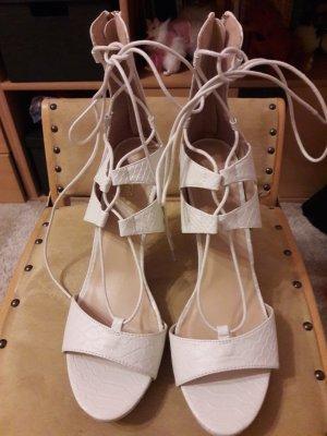 Sandalo con cinturino bianco Finta pelle