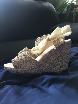 Platform Sandals natural white
