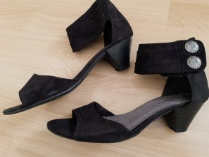 Canda Comfortabele sandalen zwart Imitatie leer