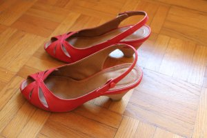 Sommerschuhe Vintage Rot