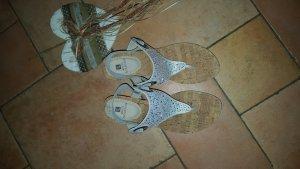 High-Heeled Sandals light grey