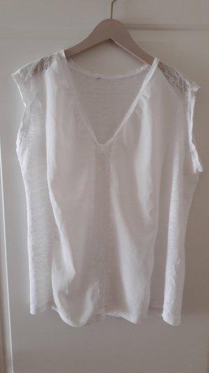 Sommershirt mit Spitze, weiß, Gr. S, Her Shirt